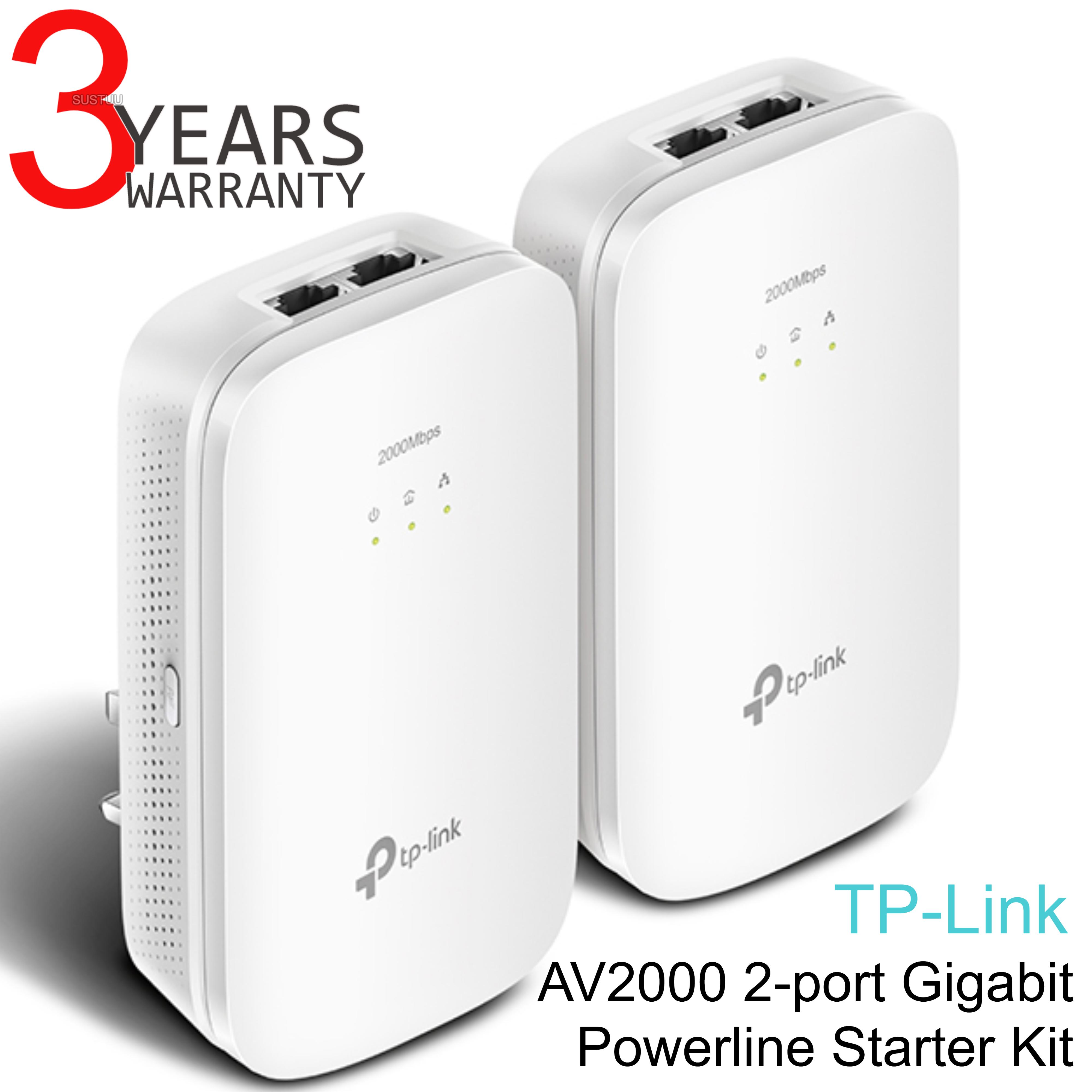 TP-Link AV2000 2-port Gigabit Powerline Starter-TL-PA9020 KIT HomePlug AV2