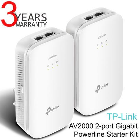 TP-Link AV2000 2-port Gigabit Powerline Starter-TL-PA9020 KIT HomePlug AV2  Thumbnail 1