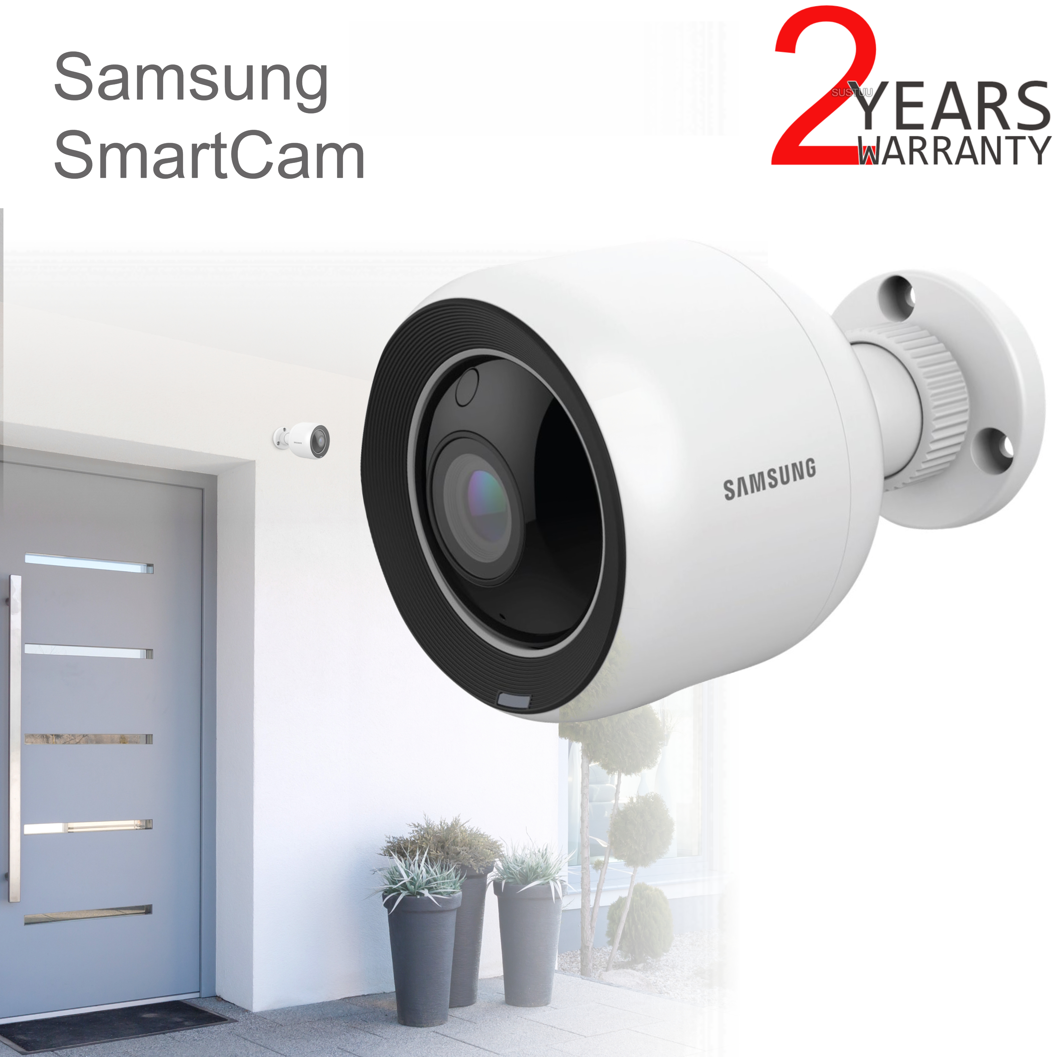 Samsung SNH-V6430BNH/UK SmartCam 1080p Full HD WiFi/ PoE Indoor & Outdoor Camera | Weather-Resistant