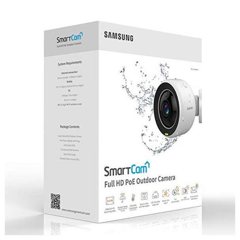 Samsung SNH-V6430BNH/UK SmartCam 1080p Full HD WiFi/ PoE Indoor & Outdoor Camera | Weather-Resistant Thumbnail 6