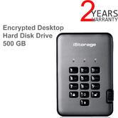 iStorage IS-DAP2-256-500-C-G diskAshur Pro2 Secure Portable Encrypted Hard Drive