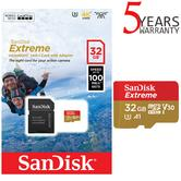 SanDisk 32GB Extreme Micro SDHC Memory Card & Adapter | 100MB/s | For Action Cameras