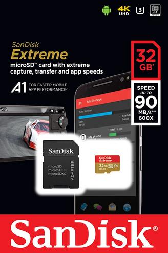 SanDisk 32GB U3 V30 Extreme MicroSDHC Class10 UHS-1 MemoryCard & Adapter | 100MB/s | For MIL Camera, Smartphone & Tablet  Thumbnail 5