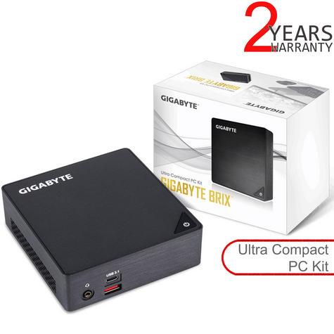 Gigabyte GB-BKI3A-7100 7th Gen Ultra Compact PC Kit - 480GB M.2 SSD + 8GB RAM Thumbnail 1