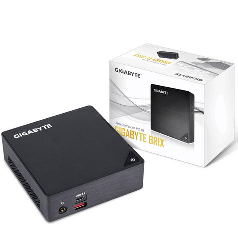 Gigabyte GB-BKI3A-7100 7th Gen Ultra Compact PC Kit - 1TB HDD + 8GB RAM Thumbnail 5