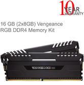 Corsair 16GB (2 x 8GB) Vengeance RGB DDR4 RGB LED Illuminated Memory Kit | 2666MHz