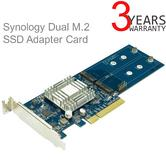 Synology M2D17 Dual M.2 SSD Adapter Card For 2x M.2 NVMe SSD-PCIe 2.0 Caching