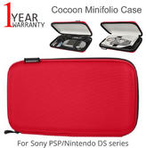 Cocoon Minifolio Case CPS250RD-NA | The Ultimate Gamers Companion | For Sony PSP/ Nintendo DS series | Red