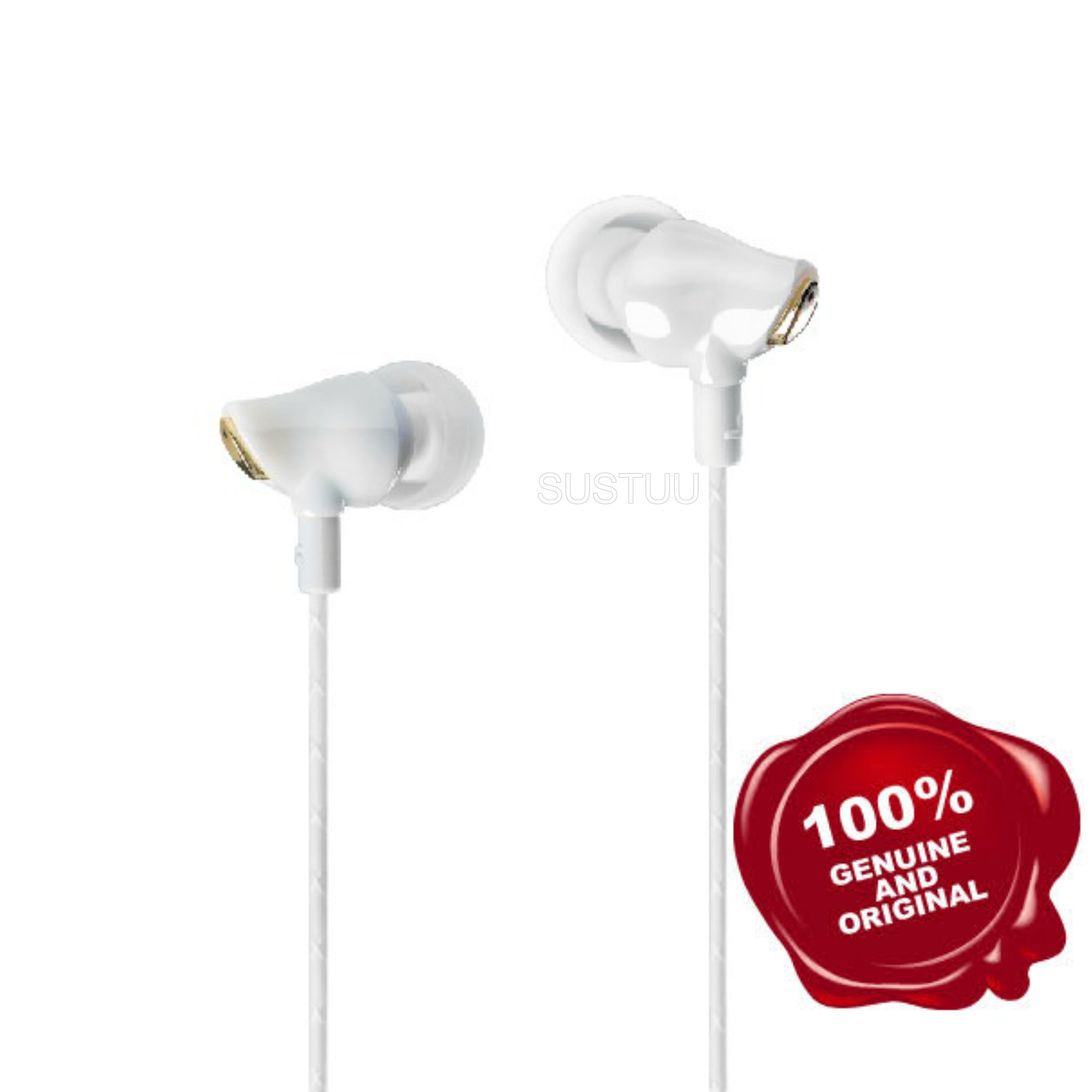 Elyxr Audio ELX-1002 Majestic Ceramic In-Ear Headphones|Hi-Fidelity Sound|White