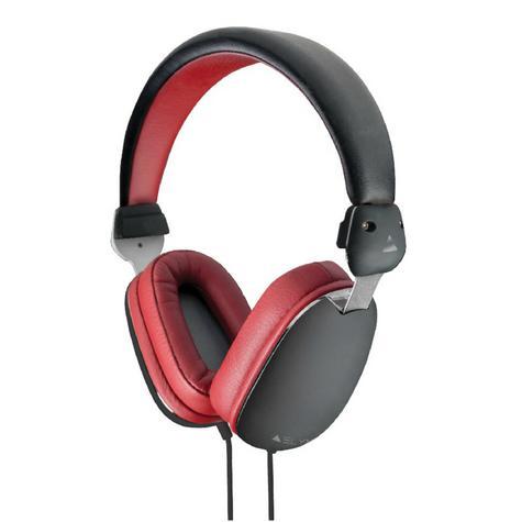 Elyxr Audio ELX-1005 Fusion On-Ear Wired Headphones|Dynamic Audio|Black and Burgandy  Thumbnail 2