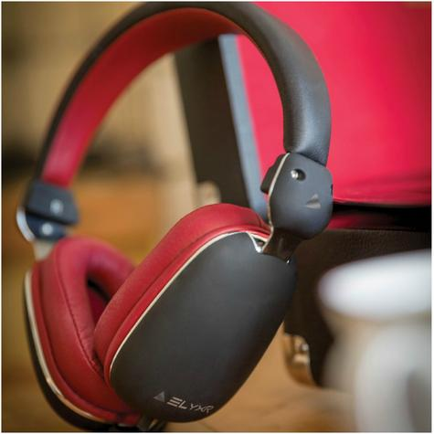 Elyxr Audio ELX-1005 Fusion On-Ear Wired Headphones|Dynamic Audio|Black and Burgandy  Thumbnail 3