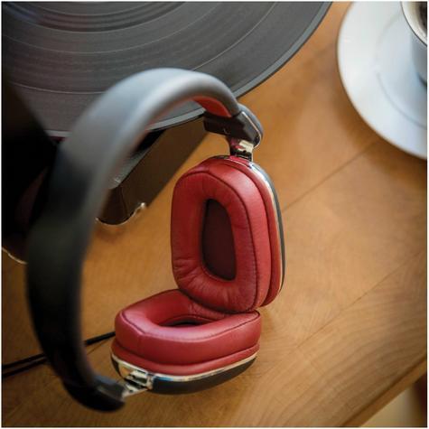 Elyxr Audio ELX-1005 Fusion On-Ear Wired Headphones|Dynamic Audio|Black and Burgandy  Thumbnail 4