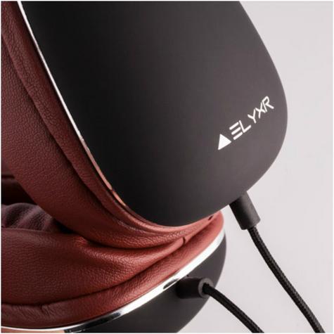 Elyxr Audio ELX-1005 Fusion On-Ear Wired Headphones|Dynamic Audio|Black and Burgandy  Thumbnail 6