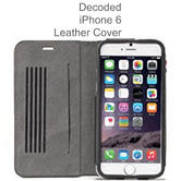 Decoded Mobile Cover | Protective Leather Flip Case | For iPhone 6 | D4IPO6SW1BK | Black