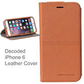 Decoded Mobile Cover | Protective Leather Flip Case | For iPhone 6 | D4IPO6SW1BN | Brown