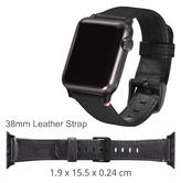 Decoded Apple Watch 38mm Leather Strap | D5AW38SP1BK | Anti-Sweat Material | Black