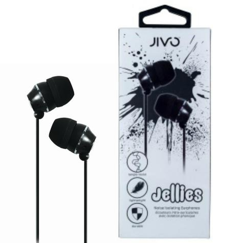 Jivo JI-1060B Jellies In-Ear Noise Isolating Earphone|Soft & Comfy|Liquorice|New Thumbnail 1