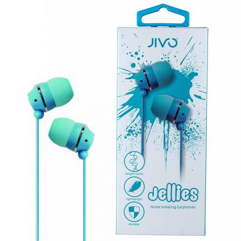 Jivo JI-1060BL Jellies In-Ear Noise Isolating Earphone|Soft & Comfy|Blueberry|New Thumbnail 1