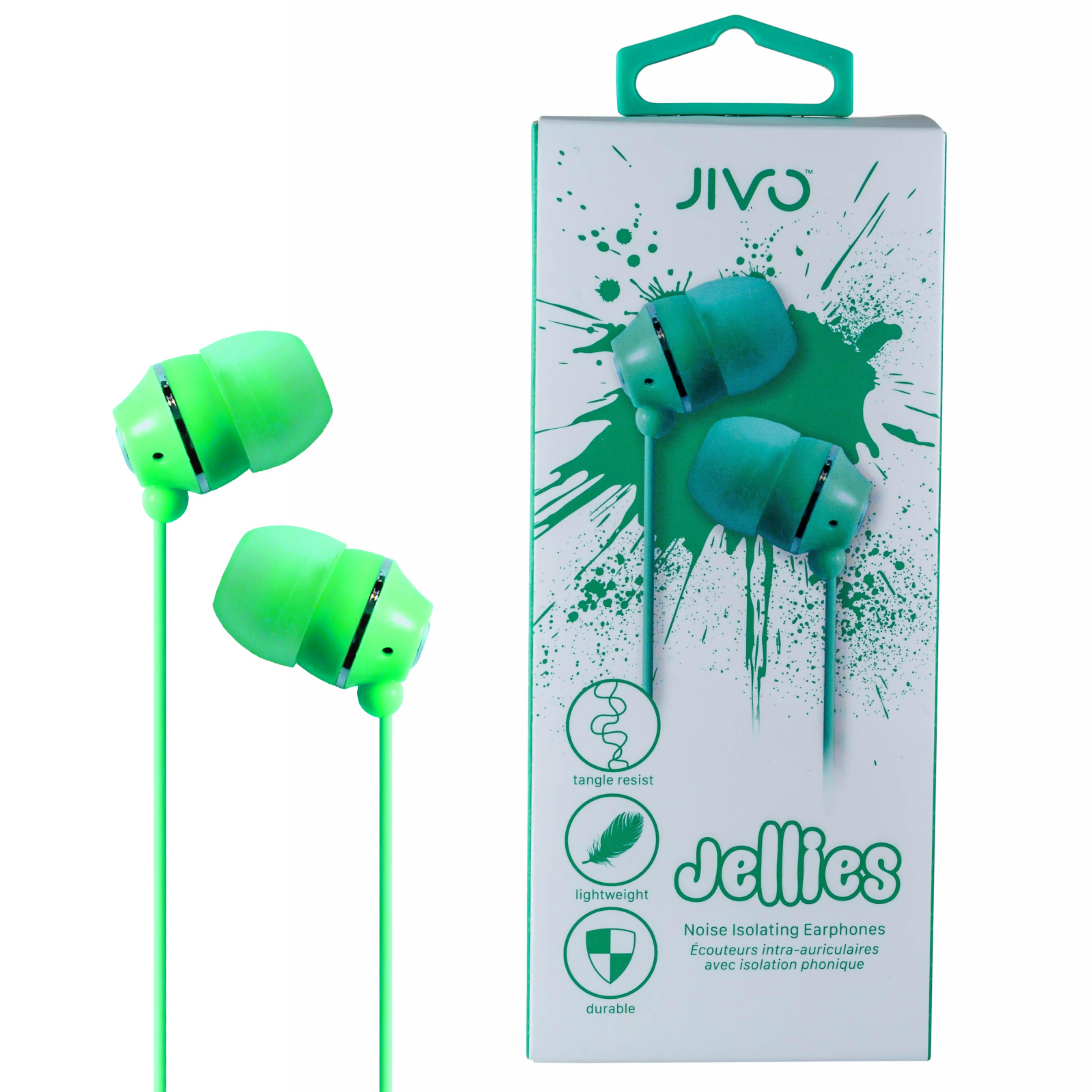 Jivo JI-1060G Jellies In-Ear Noise Isolating Earphone|Soft & Comfy|Light weight|Apple|New