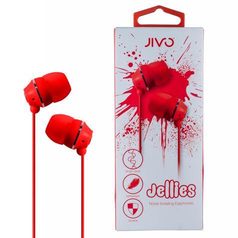 Jivo JI-1060R Jellies In-Ear Noise Isolating Earphone|Soft & Comfy|Strawberry|New Thumbnail 1