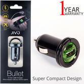 Jivo Bullet Universal USB In-Car Charger | Compact Design | JI-1867 | For Smartphones | Black