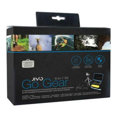 Jivo GoGear 6-in-1 Mount Kit|For GoPro & Action Cameras|360° Head Mount|JI-1908 Thumbnail 4