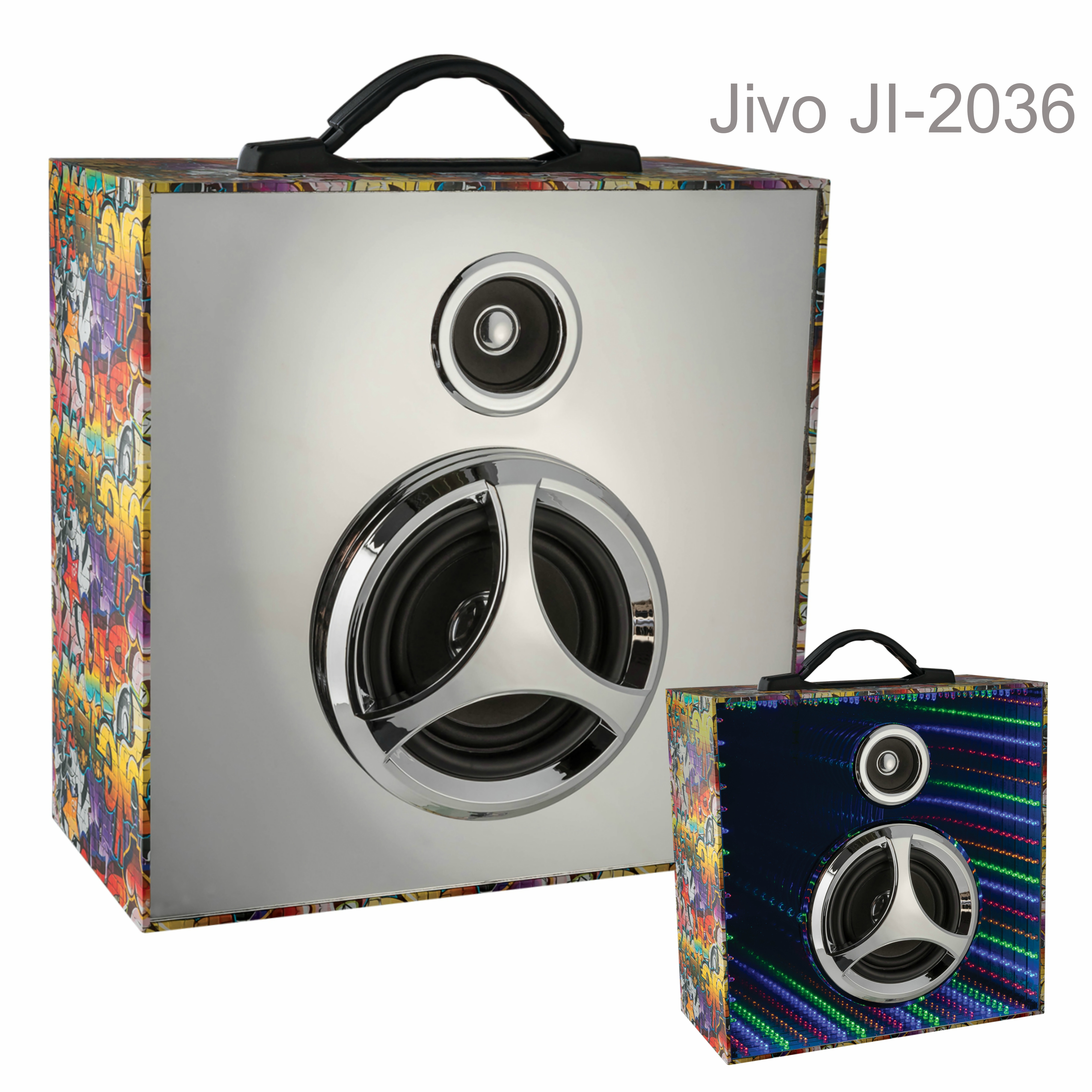 Jivo JI-2036 Infinity Pulse Bluetooth Speaker with Mirrored LED Display|Graffiti