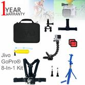 Jivo GoGear Advanced 8-in-1 Mount Accessories Kit|For GoPro & Action Cameras|JI-2044