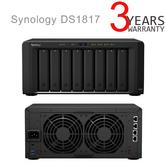 Synology DS1817 NAS 8 Bay Desktop Ethernet LAN Black Storage Server | For Private Cloud Solutions