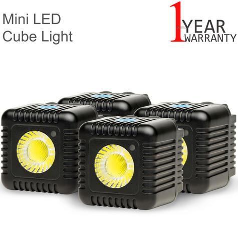 Lume Cube Quad Cube Pack | Mini Portable LED Action Light | Bluetooth Controlled | NEW Thumbnail 1