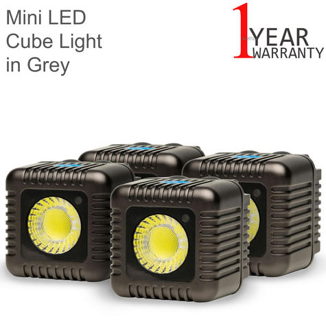 Lume Cube Mini Portable LED Action Light (Pack of 4) | Bluetooth Controlled | Grey Thumbnail 1