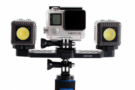Lume Cube Lighting Kit for GoPro | Bluetooth Controlled | 1500 Lumens | Gunmetal Grey Thumbnail 4