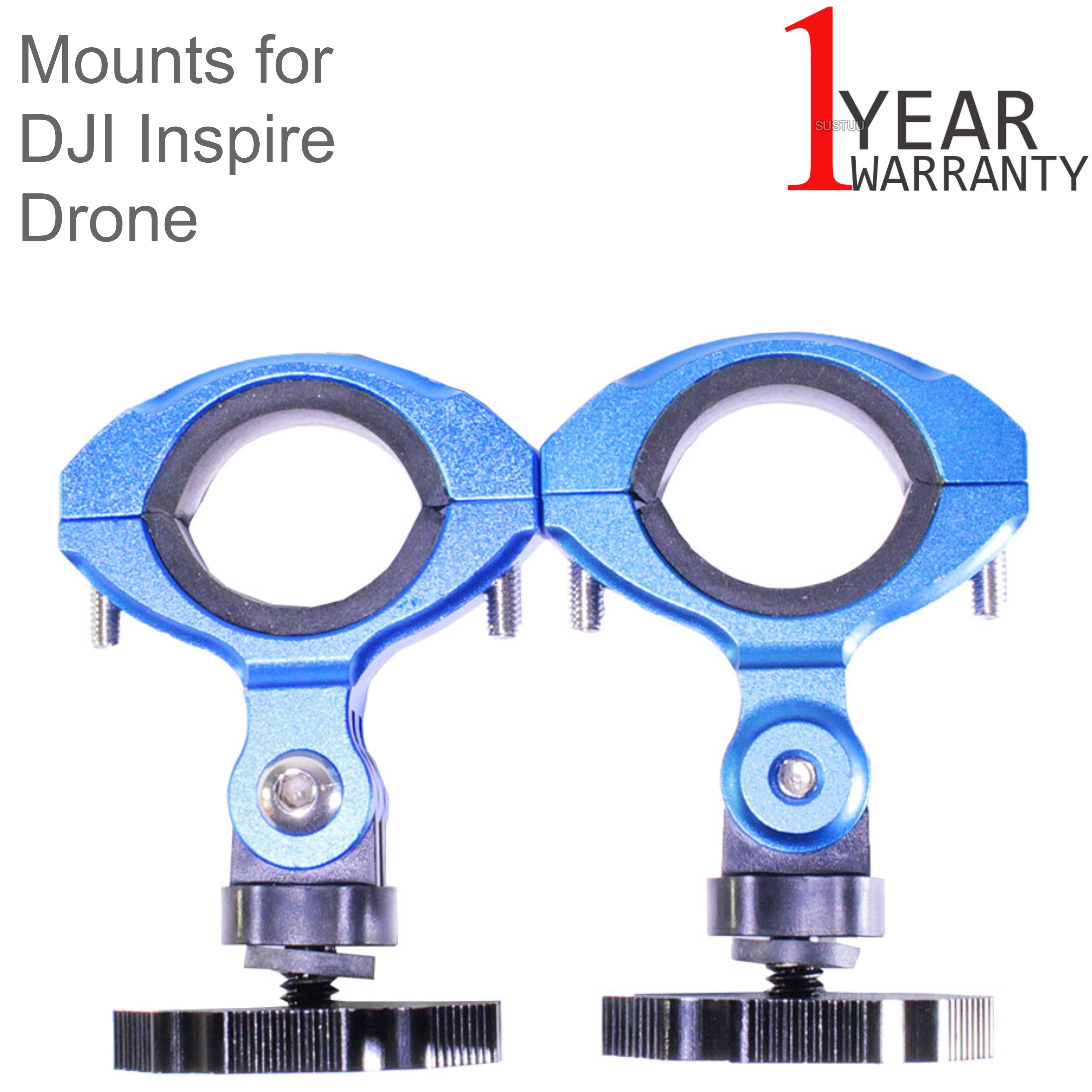 Lume Cube Balanced Mounts for the DJI Inspire 1 and Inspire 2 Drones | Black/Blue