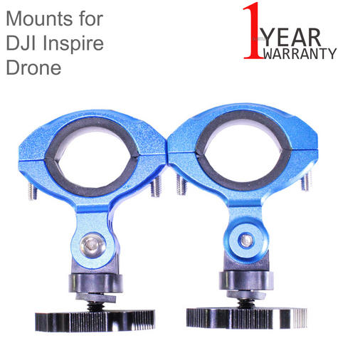 Lume Cube Balanced Mounts for the DJI Inspire 1 and Inspire 2 Drones | Black/Blue Thumbnail 1