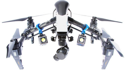 Lume Cube Balanced Mounts for the DJI Inspire 1 and Inspire 2 Drones | Black/Blue Thumbnail 5