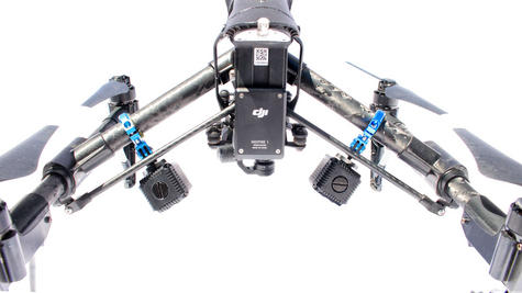 Lume Cube Balanced Mounts for the DJI Inspire 1 and Inspire 2 Drones | Black/Blue Thumbnail 6