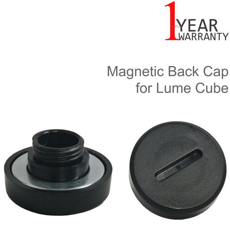 Lume Cube Magnetic Back Cap LCMC11 | Strong Cover | For Mount On Metal Surface | Black Thumbnail 1