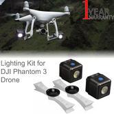 Lume Cube Lighting Kit & Mounts for DJI Phantom 3 Drone | Waterproof & Bluetooth