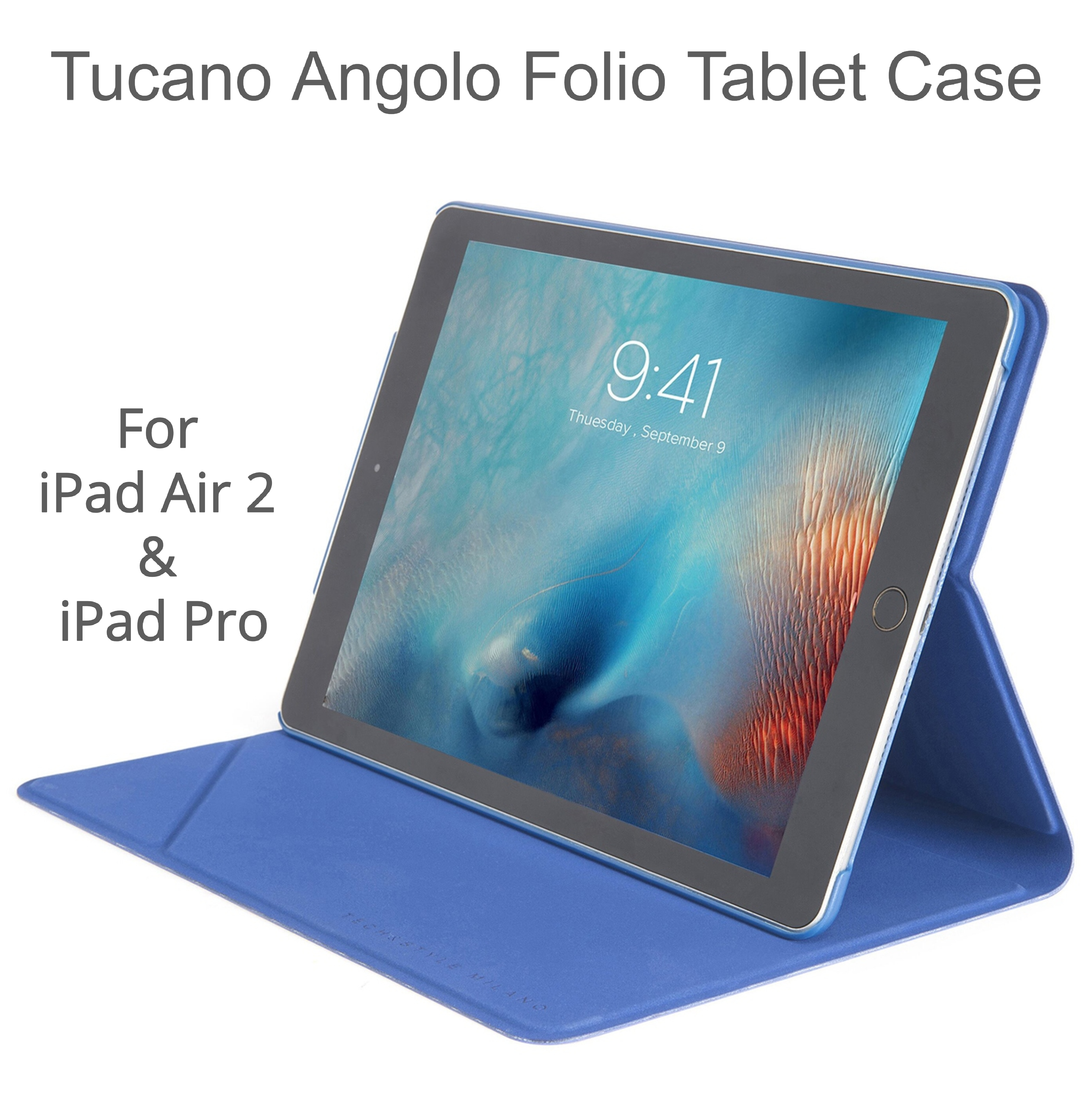 new style 6e152 7c1aa Tucano Angolo Folio StandSmart Tablet Case/ Cover | For iPad Air 2 & iPad  Pro 9.7
