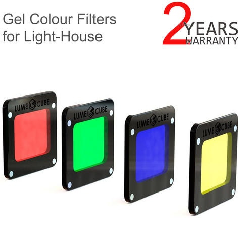 Lume Cube Professional RBGY Gel Colour Pack for Light-House | Durable Filters | NEW Thumbnail 1