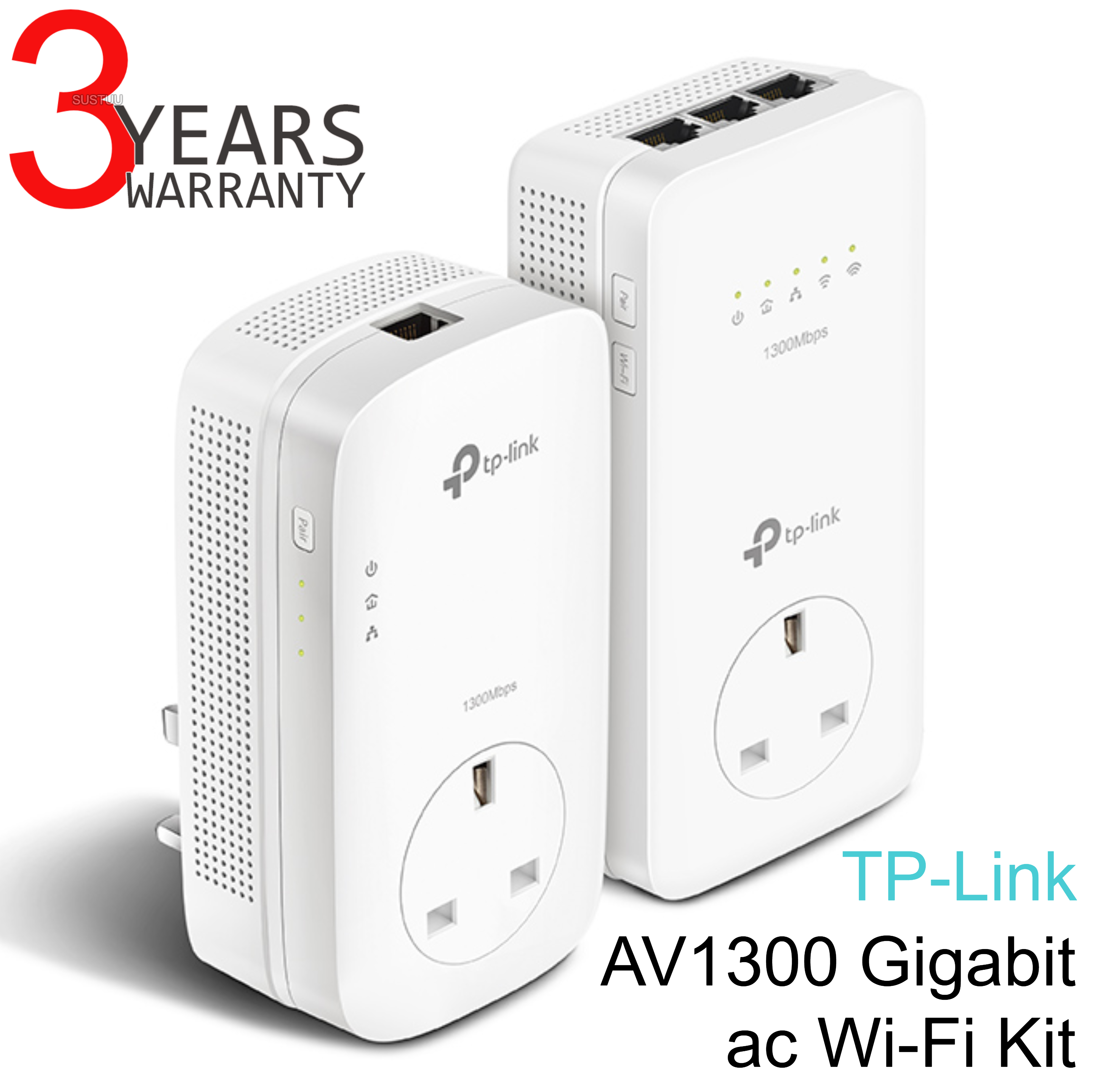 TP-Link TL-WPA8630P KIT V2|AV1300 Gigabit Passthrough ac Wi-Fi Kit|Twin Pack
