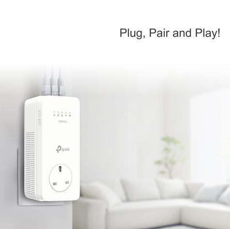 TP-Link TL-WPA8630P KIT V2|AV1300 Gigabit Passthrough ac Wi-Fi Kit|Twin Pack Thumbnail 4