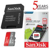 SanDisk 200GB Ultra UHS-1 MicroSDXC Memory Card with Adapter | A1 App Performance | For Smartphones and Tablets