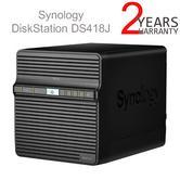 Synology DiskStation DS418J 4 Bay Desktop NAS Enclosure   For Home Data Backup & Multimedia Streaming