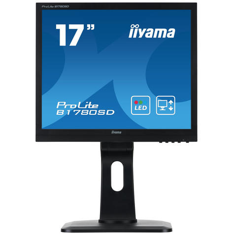 iiyama ProLite E1780SD-B1 LEDMonitor/Computer/Screen|Height Adjustable|17"