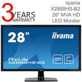 Iiyama ProLite High Colour LED Monitor | 28'' Full HD Display | For Mac Computer | Black