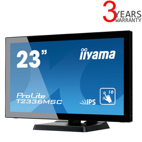 "iiyama T2336MSC-B2 23"" ProLite HD Multi Touch IPS LED Computer Monitor - Black Thumbnail 1"