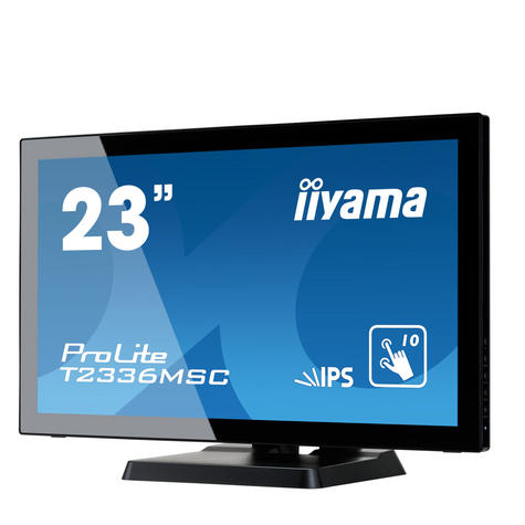 "iiyama T2336MSC-B2 23"" ProLite HD Multi Touch IPS LED Computer Monitor - Black Thumbnail 2"