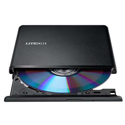 LiteOn ES1 External DVD Writer|Optical Drive|Ultra-Slim|Portable|USB 2.0|Black| Thumbnail 4