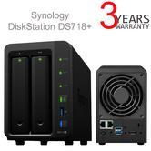 Synology Disk Station DS718+ 2 Bay Desktop NAS Enclosure   For Intensive Workloads
